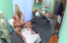 Doctor fucks his patient in the office