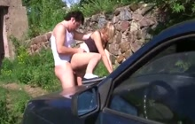 Russian girl picked and fucked hard