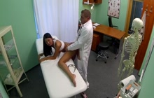 Naughty girl fucks with doctor