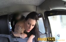 Tattooed British slut buttfucked in taxi