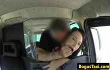Hot British babe fucked in cab
